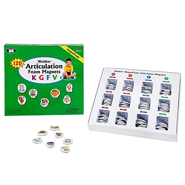 Super Duper® Webber® Articulation MagneFoam™ Magnets For K, G, F and V Game