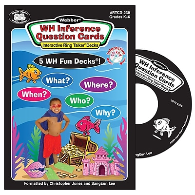Super Duper® Webber® WH Inference Question Cards Interactive Ring Talker® Software