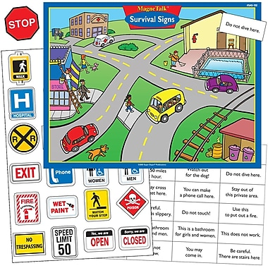 Super Duper® MagneTalk® Survival Signs Magnetic Game