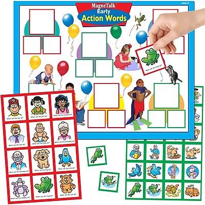 Super Duper® MagneTalk® Early Action Words Magnetic Game Board