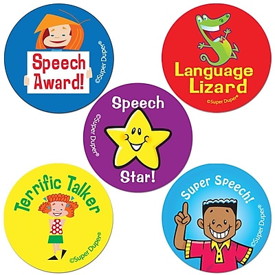 Super Duper® 500 Speech and Language Reward Stickers, 500/Pk