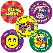 Super Duper® Hearing Tested Assortment Stickers, 100/Roll, 100/Pk