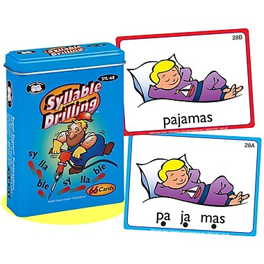 Super Duper® Syllable Drilling Fun Deck Cards