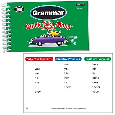 Super Duper® Grammar Quick Take Along™ Mini-Book, All Ages
