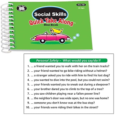 Super Duper® Social Skills Quick Take Along Mini Book, All Ages