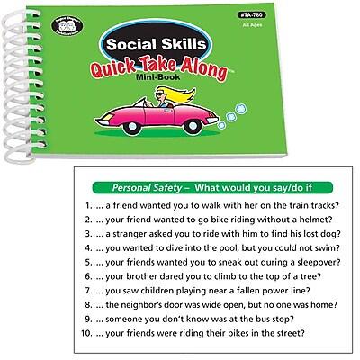 Super Duper® Social Skills Quick Take Along Mini Book, All Ages