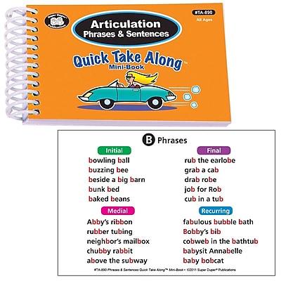 Super Duper® Articulation Phrases & Sentences Quick Take Along Mini Book, All Ages