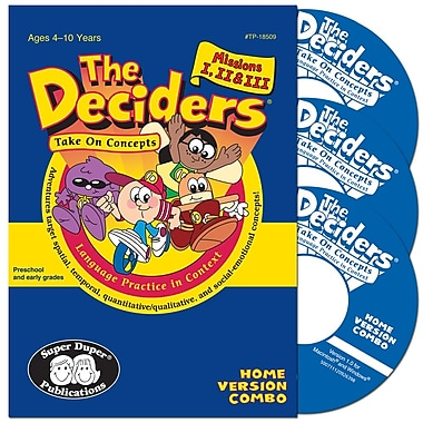 Super Duper® Deciders® Take on Concepts Home Version Combo CD-ROM