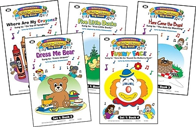 Super Duper® Interactive Sing-Along Big Book With Music CD, Set 1, 5/Bundle