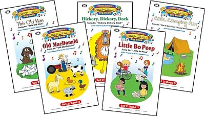 Super Duper® Interactive Sing-Along Big Book With Music CD, Set 2, 5/Bundle