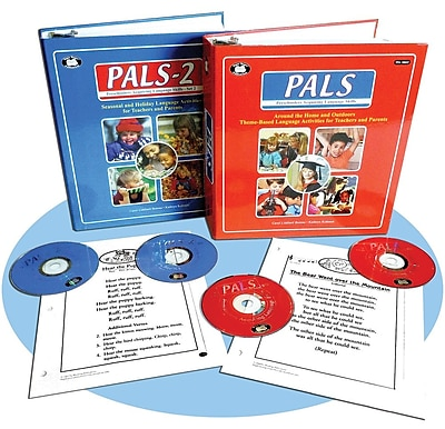 Super Duper® Preschoolers Acquiring Language Skills (PALS) and (PALS-2) Book and CDs, Grades PreK-K