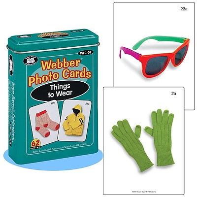 Super Duper® Webber® Things to Wear Photo Deck Cards