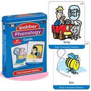"Super Duper® Webber® ""Final Consonant Deletion"" Phonology Deck Cards"