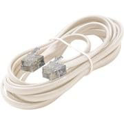 STEREN® 7' 6-Wire Premium Telephone Line Cord, White