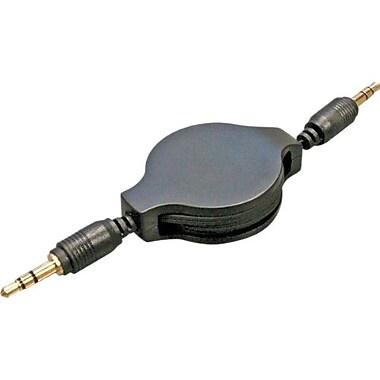 STEREN® 5' Male/Male Stereo Audio Patch Cord, Black