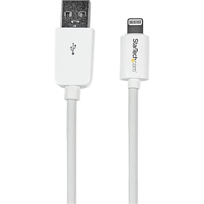Startech® 1' Short Apple® 8-Pin Lightning Connector to USB Cable For iPhone/iPod/iPad, White