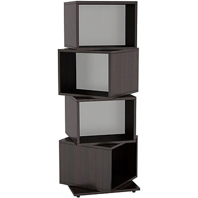 """""Atlantic 11 1/2"""""""" 4 Rotating Cube 216 Disc Media Tower, Espresso"""""" IM1RC2841"