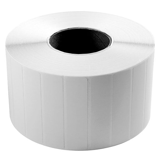 """Wasp® 633808402501 2"""" x 1"""" Quad Pack Thermal Transfer Label, 4/Pack"""