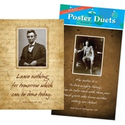 "Barker Creek 19"" x 13 3/8"" Presidential Poster Duets Set, Heroes & Legends"