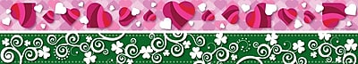Barker Creek Multi-Color Double Sided Trim, Hearts and Clover, 12/Pk