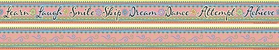Barker Creek Multi-Color Double Sided Trim, Pink Lemonade, 12/Pk
