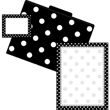 Barker Creek Dots Get Organized Kit, Black/White