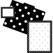 Barker Creek Dots Get Organized Kit, Black/White,107/PK