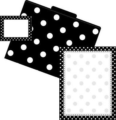 Barker Creek Dots Get Organized Kit, Black/White,107/PK