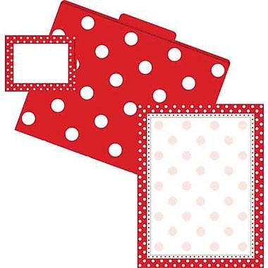 Barker Creek Dots Get Organized Kit, Red/White