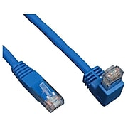 Tripp Lite N204-010-BL-DN 10' CAT-6 RJ-45 Right Angle Down M to RJ-45 M Molded Patch Cable, Blue
