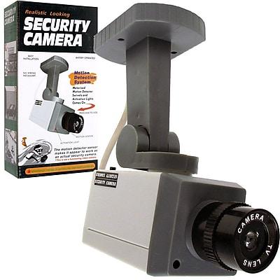 Trademark Global® 72-1463 Rotating Imitation Security Camera With LED Light