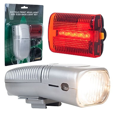 Trademark Global® Whetstone™ 5 LED Bike Safely Bicycle Headlight and Taillight Set