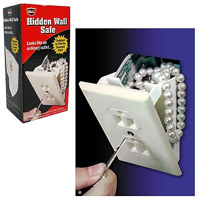 Looks Like an Ordinary Outlet Hidden Wall Safe