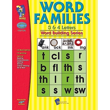 Word Families 3 and 4 Letter Words, Grade 1-3
