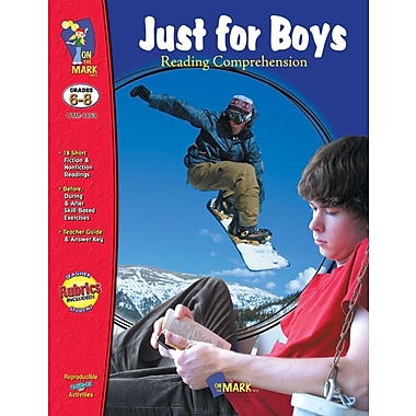 Just for Boys: Reading Comprehension, Grade 6-8