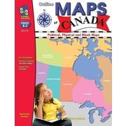 Livre  Outline Maps of Canada , maternelle à la 2e secondaire