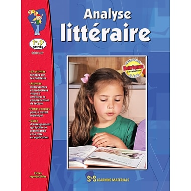 Literary Analysis, Grades 1-3 (French Book)