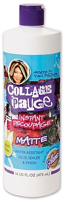 I Love To Create® Collage Pauge Instant Decoupage Medium, 16 oz., Matte (25084)
