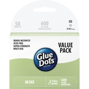 Glue Dots Craft Mini Dot Sheets Value Pack, 600/Pack