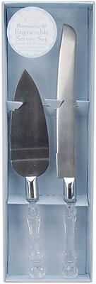 Darice® Knife and Cake Server Set, Silver