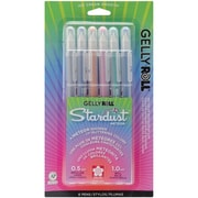 Sakura Gelly Roll Stardust Bold Point Pen, 6/Pack, Silver/Marine/Copper/Pink/Green/Blue