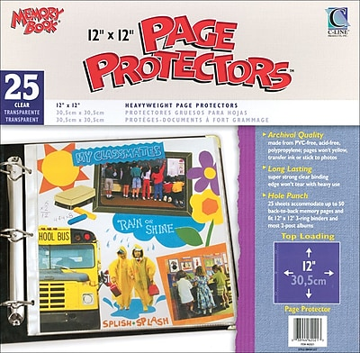 C-Line Memory Book Top - Load Page Protectors, 12