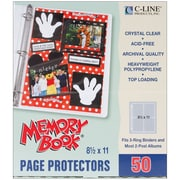 "C-Line Memory Book Top - Load Page Protectors, 8 1/2"" x 11"", Clear"
