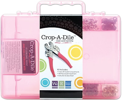 We R Memory Keepers™ Crop-A-Dile Carrying Case With Eyelets, Pink