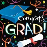 """Amscan® 5"""" x 5"""" Graduation Super Value Pack Beverage Napkins, 100/Pack"""