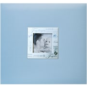 "MBI Expressions Postbound Album With Window, 8"" x 8"", Baby Blue"