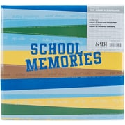"MBI School Memories Postbound Album, 12"" x 12"", Blue/Green"