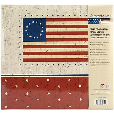 MBI American Flag Postbound Album, 12