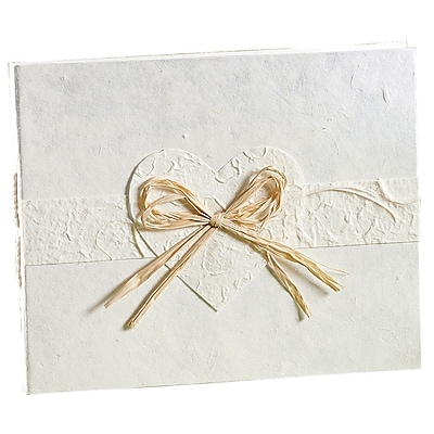 Wilton® Eco-Occasions Natural Paper Guest Book, White