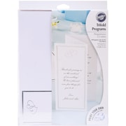 Wilton® Sweet Hearts Trifold Wedding Programs, Ivory, 50/Pack